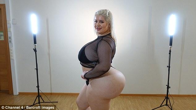 24岁女孩屁股竟有1米宽!称这样更拉风(图)